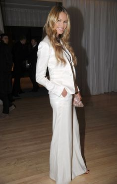 Love a white suit!