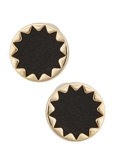 Leather and gold sunburst studs--so simple and elegant.