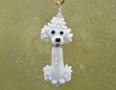 Poodle Pendant Lampwork Glass Beads by SUZOOM on Etsy