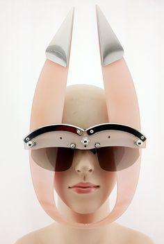 Handmade Futuristic Steampunk Eye Wear Mask £225 : http://hiteklondon.co.uk/…