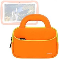 Evecase Neoprene Sleeve Case Bag for ProntoTec 7 inch WiMo KidTab S2 / C72R / C71R Android Tablet - Orange with Handle and Accessory Pocket - The Evecase® Handle Case is a Ultraportable Universal Neoprene Zipper Carrying slim case designed to protect your device.Convenient, comfortable, and easy to carry. Featuring a durable, weather-resistant Neoprene cover, this zipper case helps cushion and protect your talet. This lightweight, ... - http://buytrusts.com/giftsets/tablet-a