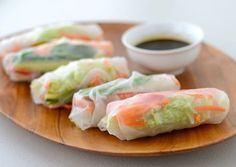 Made from rice paper and rice noodles, Vietnamese Fresh Spring Rolls with Shrimp is gluten-free and serves as a perfect appetizer or snack for any occasion. Vegan Spring Rolls, Shrimp Spring Rolls, Summer Rolls, Vietnamese Fresh Spring Rolls, Whole Food Recipes, Cooking Recipes, Vegetarian Recipes, Healthy Recipes, Vegan Appetizers
