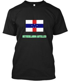 Netherlands Antilles Flag Stencil Green  Black T-Shirt Front - This is the perfect gift for someone who loves Netherlands Antilles. Thank you for visiting my page (Related terms: I Heart Netherlands Antilles,Netherlands Antilles,Dutch Antillian,Netherlands Antilles Travel,I Love #Netherlands Antilles, #Netherlands Antillesshirts...)