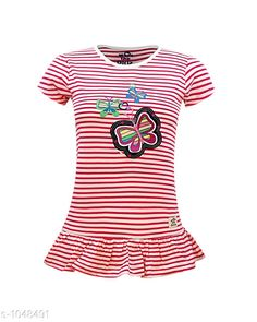 Tops & Tunics Trendy Cotton Knitted Girl's Top  *Fabric* Cotton Knitted  *Sleeves* Short Sleeves Are Included  *Size* Age Group (2 - 3 Years) - 20 in Age Group (3 - 4 Years) - 22 in Age Group (5 - 6 Years) - 24 in Age Group (7 - 8 Years) - 26 in Age Group (8 - 9 Years) - 28 in Age Group (9 - 10 Years) - 30 in Age Group (10 - 11 Years) - 32 in Age Group (12 - 13 Years) - 34 in    *Type* Type  *Description* It Has 1 Piece Of Girl's Top  *Work* Printed  *Sizes Available* 2-3 Years, 3-4 Years, 5-6 Years, 7-8 Years, 8-9 Years, 9-10 Years, 11-12 Years, 12-13 Years *   Catalog Rating: ★4 (143)  Catalog Name: Doodle Trendy Cotton Knitted Girl's Tops Vol 2 CatalogID_127548 C62-SC1142 Code: 912-1048491-