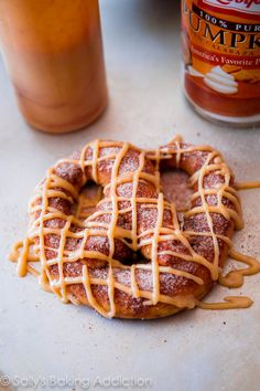 Pumpkin Praline Soft Pretzels in less than an hour via sallysbakingaddiction.com