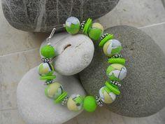 Polymer clay bracelet by katerina66, via Flickr