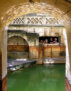 Bath - archway at the Roman Baths.  A must-see if you are at all interested in ancient history.