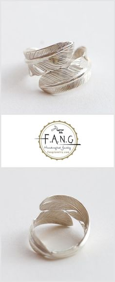 It's a such classic designed feather ring, we use 2 pieces of 4cm small feather weld together. Feathers are all chisel engraved so that we can maximize the sense of elegant feather and delivering a comfortable wearing as well.