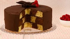 Checkerboard Cake - Recipes - Best Recipes Ever - This cake looks fancy but it's actually very simple to make.