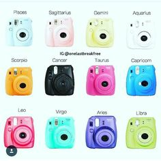 The INSTAMATIC is BACK! And this time it's sexy! This is a genuine Fuji Fujifilm Instax Mini 8 Film Photo Instant Camera , which comes in 6 different vibrant colors and boasts a robust, compact housing. Just point and shoot for cool instant pictures. Instax Mini 8 Film, Instax Mini 8 Camera, Fujifilm Instax Mini 8, Instant Photo Camera, Zodiac Clothes, Fendi, Signo Libra, Perfect Selfie, Zodiac Society
