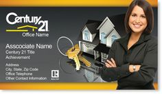 Century 21 Real Estate Agent Business Cards