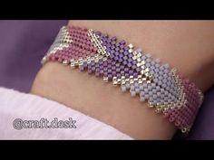 Knitting and crocheting peyote bracelet tutorial how to make, peyote bracelet pattern free simple, peyote bracelet miyuki free pattern, peyote bracelet tutorial, peyote bra Peyote Beading, Bracelet Crafts, Jewelry Crafts, Jewelry Art, Antique Jewelry, Fine Jewelry, Beaded Bracelets Tutorial, Diy Bracelet, Beaded Jewelry