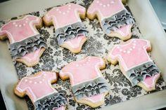 Pink Silhouette Baby Shower - #Babyshower Onsie Cookies -  Bella Paris Designs