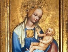 Master of the Trebon Altarpiece Roudnice Madonna c. tempera on panel, Národní Galerie, Prague Madonna Und Kind, Madonna And Child, Madonna Art, Blessed Mother Mary, Blessed Virgin Mary, Religious Images, Religious Art, Robert Campin, La Madone