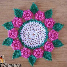 crochet patterns for doilies Crochet Cross, Crochet Home, Thread Crochet, Irish Crochet, Crochet Doily Patterns, Crochet Diagram, Knitting Patterns, Crochet Dollies, Crochet Flowers