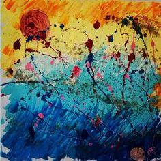 I quattro elementi #acrilico #acrilic #acrilicpaint #acrilicpainting #paint #astratto #actionart #dipingereinrivaalmare #sabbia by tatire78