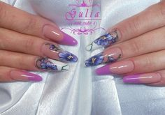 ОРХИДЕИ!! One Stroke Nails, Flower Nail Art, Orchids, Beauty, Toenails Painted, Beleza, Lilies, Cosmetology, Orchid
