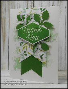 Hi everyone, I cannot believe that it is week 22 of my Tuesday Challenge. This week I have made a quick and easy Thank You card using the Accented Blooms and the Artisan Textures stamp sets.