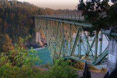 Deception Pass Bridge - Anacortes and Oak Harbor, WA -- My favorite bridge in the world! Great Places, Beautiful Places, Places To Visit, Oak Harbor Wa, Anacortes Washington, Parks, Deception Pass, Whidbey Island, Camano Island