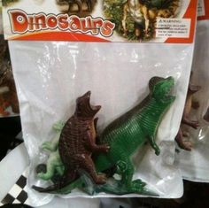 Toys that teach kids why dinosaurs became extinct...