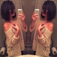 medium hair LOVE THIS!! Also loven that sweater!