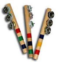 Jingle Sticks: Children's Music by Nancy Stewart - Homemade Instruments Instrument Craft, Homemade Musical Instruments, Making Musical Instruments, Music For Kids, Diy For Kids, Crafts For Kids, Toddler Crafts, Preschool Music, Music Crafts