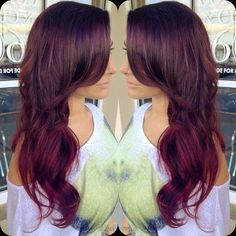 Violet Layered Hair - Hairstyles and Beauty Tips