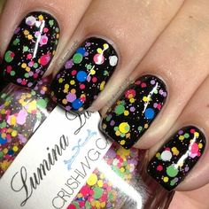 .@Amanda S | This is Crushing Candy by @Lumina Lacquer .. 1 generous cost over a black base...