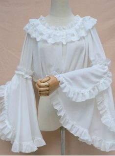 Sweet Lolita Blouse White Vintage Neverland Hime Sleeve Lolita Shirt The clothing culture is very old. Indian Fashion Dresses, Indian Designer Outfits, Girls Fashion Clothes, Fashion Outfits, Clothes For Women, Womens Fashion, Kurta Designs, Kurti Designs Party Wear, Blouse Designs