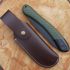 TBS Leather's Bahco Saw Belt Pouch. The Bahco Laplander Folding Saw is always a very popular item as it is so well made and such a useful tool. This belt pouch is an ideal way to carry it as the saw is a little big for your pocket