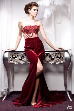 you can have your cake & eat it, too... you can, also, have this red velvet & lace evening gown _compliments of Bien Savvy