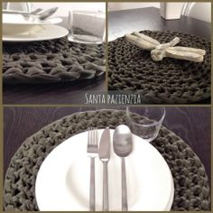 Renovamos los Manteles individuales. Santa Pazienzia Crochet Kitchen, Crochet Home, Love Crochet, Diy Crochet, Crochet Bags, Crochet Motifs, Crochet Doilies, Crochet Patterns, Tapetes Diy