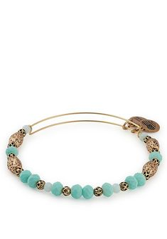 Alex and Ani Valley Beaded Adjustable Bangle, Gold | McElhinneys