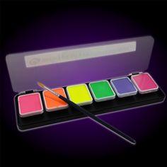 Neon FX PRO Black Light Reactive Face & Body Paint Kit