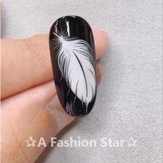 Nail Art ✰A Fashion Star✰ nail design nail art nails 595741856940923529 Nail Art Designs Videos, Nail Design Video, Nail Art Videos, Cool Nail Designs, Nail Art Hacks, Nail Art Diy, Diy Nails, Nail Nail, Star Nail Art