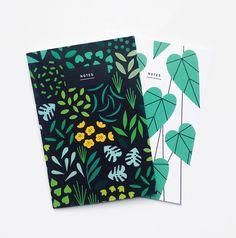 Notebooks by Sarah Abbott | plant illustrations