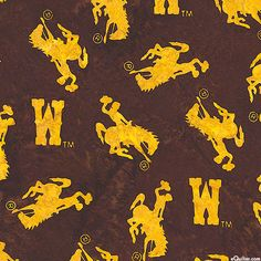 University of Wyoming Batik - Quilt Fabrics from www.eQuilter.com