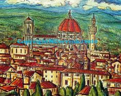 Florence by MattCervenkaArt on Etsy, $30.00