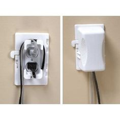 Kidco Outlet Plug Cover - sometimes you have a baby that pulls and tugs at every cord in sight (and even of sight); this protects the cord, the outlet, and the baby. Easy to install, too. Home Safety, Baby Safety, Child Safety, Toddler Proofing, Home Daycare, Baby Cover, Childproofing, Baby Time, Baby Hacks