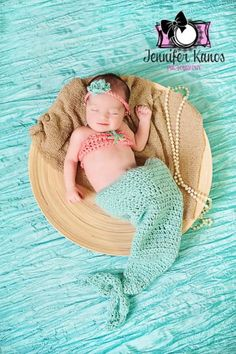 Crochet Mermaid Costume, photo prop, newborn, baby, infant, pink, turquoise, mermaid