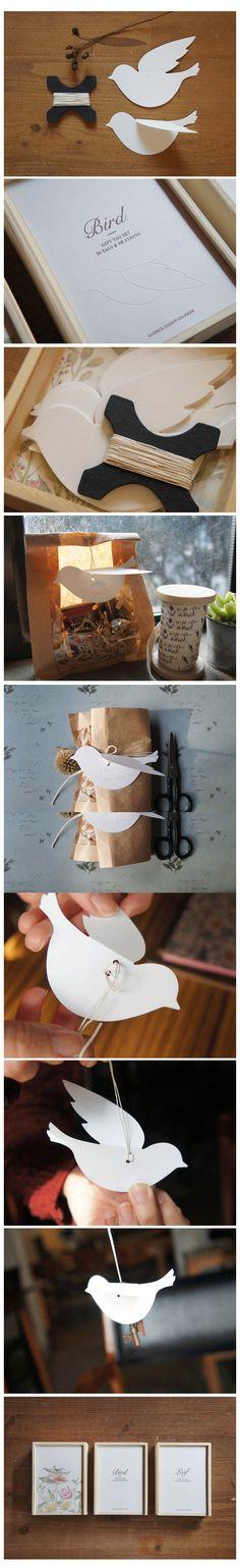 o-check gift tag set bird [o-check, o check stationery, o check bird gift tags]