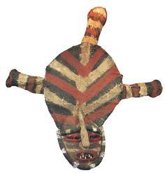 """Chokwe Lovale Mask  Angola H 58""""  W 53""""  D 13""""  (inches)"""