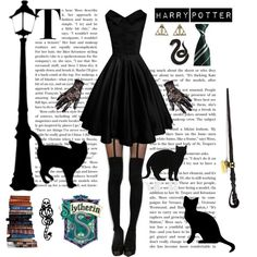 Slytherin - Harry Potter by ohkpopper on Polyvore featuring Mode, 157+173 designers and mark.