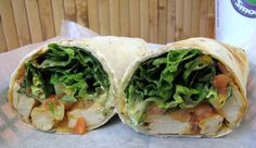 Tropical Smoothie Cafe Buffalo Wrap w/ Beyond Meat Chicken-Free Strips. #vegan #recipe