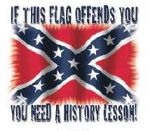 That flag promoted in-slaving innocent people! Of course it offends me, because no one should support slavery!