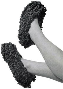 NEW! Loop the Loop Crocheted Slippers pattern from Knit & Crochet with Heavy Rug Yarn, Star Book No. 191.