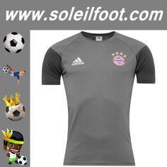 Nouveau Training T-Shirt De Foot Bayern Munich Gris Saison 16 17 Moins Cher