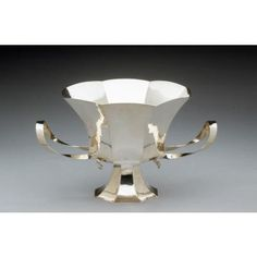 """""""The Samuel C. Miller Cup,"""" commissioned by The Newark Museum, 1987  Tiffany and Company    Michael Graves      Parsippany, New Jersey  Silver, H: 7 7/8 in, W: 13 1/4 in, DIAM: 9 5/8 in   Purchase 1987 The Members' Fund and partial gift of Michael Graves.  87.25"""