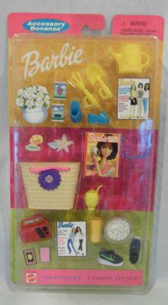 Barbie Fashion Avenue Accessory Bonanza Fun Activities Beach and Gardening Set   eBay