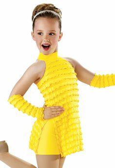 Ruffle Halter Dress with Slits; Weissman Costumes